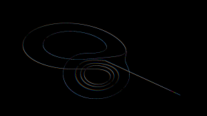 Screenshot of 3D Lorenz Attractor Screensaver
