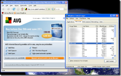 AVG Anti-Virus launces browser as SYSTEM user