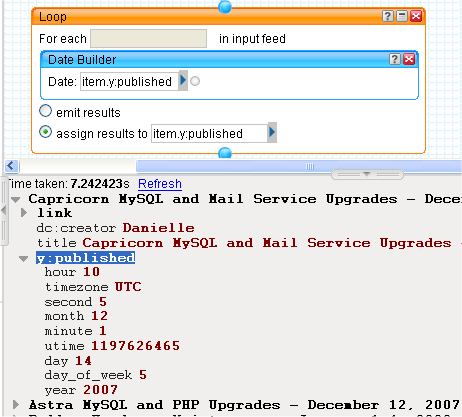 Day's blog - Yahoo! Pipes Tutorial - An example using the Fetch Page